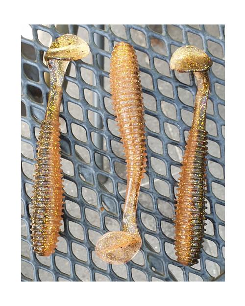 FD Grub Shad 12cm Dirty Gold